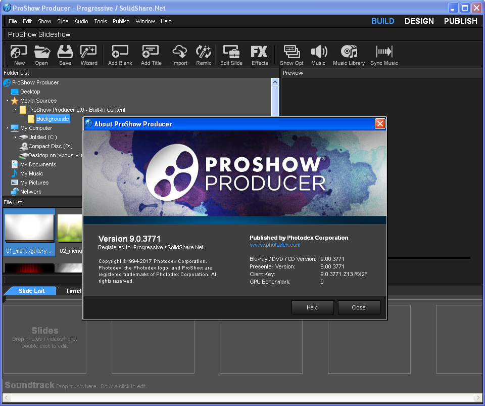 Proshow Producer with full serial key