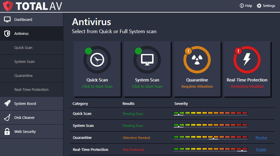 Total Av antivirus pro max